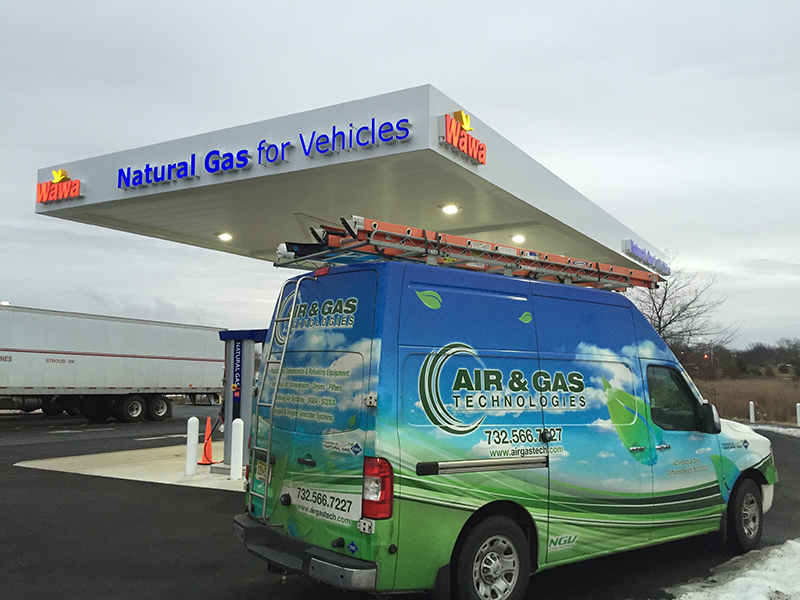 Air & Gas Technologies van at Wawa